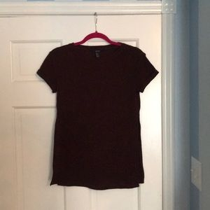 Forever 21 Burgundy Knit Top with Slits